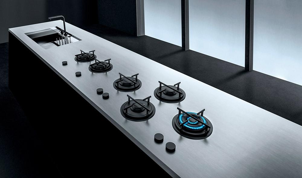 top in acciaio per cucine moderne