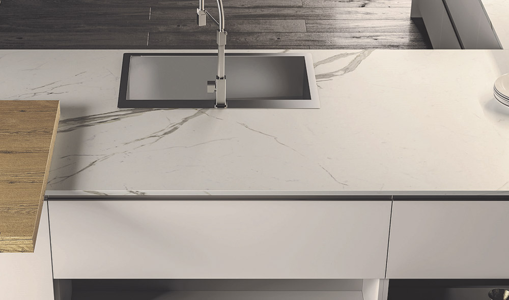 top in gres porcellanato per cucine moderne